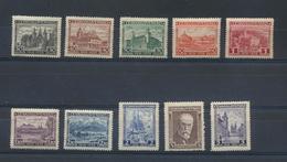Tchécoslovaquie  Yvert 242/51  De 1928 MH X   Scott 278/87  Mi 267/76 - Unused Stamps