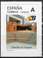 ESPAÑA. TUSELLO. EXPO'92 SEVILLA. PABELLON DE TURQUIA - 1931-Hoy: 2ª República - ... Juan Carlos I
