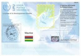Mauritius Maurice 2018 Reply Coupon Reponse Hologram Type T37 IRC IAS - Maurice (1968-...)