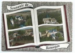 18 - SOUVENIR DE BANNEGON - 4 VUES - CPSM - Autres Communes