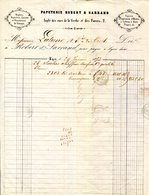 LYON.PAPIERS D'IMPRESSION D'AFFICHES,A LETTRE,A ETATS.PAPETERIE ROBERT & SARRANS.CACHET & MARQUE POSTALE 1853. - Imprimerie & Papeterie