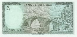LEBANON P. 62d 5 L 1986 UNC - Liban