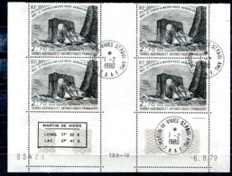 T.A.A.F                 N° 59  Oblitéré En Bloc De 4 Coin Daté - Tierras Australes Y Antárticas Francesas (TAAF)