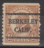 USA Precancel Vorausentwertung Preo, Bureau California, Berkeley 598-42 - Vereinigte Staaten