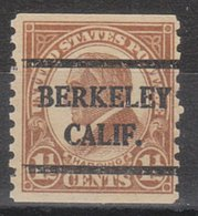 USA Precancel Vorausentwertung Preo, Bureau California, Berkeley 598-42 - Etats-Unis
