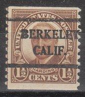 USA Precancel Vorausentwertung Preo, Bureau California, Berkeley 686-42 - Vereinigte Staaten