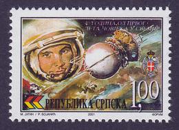 Bosnia Serbia 2001 Gagarin, Wostok, Space, Russia, MNH - Space