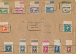 Nederlands Indië - 1946 - Stempel MALINO CONFERENTIE Op Cover Met Complete Serie Van 1 Cent T/m Fl 2,50 Naar Makasser - Nederlands-Indië