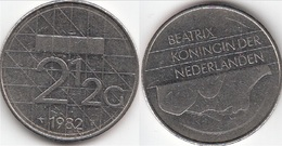 Olanda 2½ Gulden 1982 Rijksdaalder KM#206 - Used - [ 3] 1815-… : Regno Dei Paesi Bassi