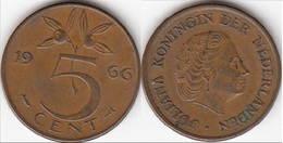 Olanda 5 Cents 1966 Stuiver KM#181 - Used - [ 3] 1815-… : Regno Dei Paesi Bassi