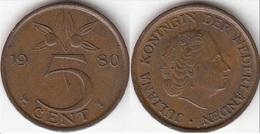Olanda 5 Cents 1980 Stuiver KM#181 - Used - [ 3] 1815-… : Regno Dei Paesi Bassi