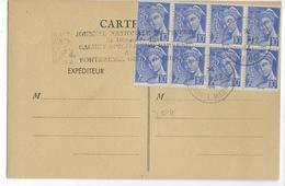 """1944 - POCHE ALLEMANDE - CACHET SPECIAL """"JOURNEE NATIONALE DU TIMBRE 31/12/1944 DANS LA FORTERESSE De LA ROCHELLE. - Marcophilie (Lettres)"""