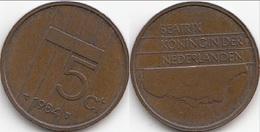 Olanda 5 Cents 1984 Stuiver KM#202 - Used - 1980-… : Beatrix