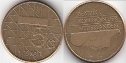 Olanda 5 Gulden 1988 Vijfje KM#210 - Used - 1980-… : Beatrix