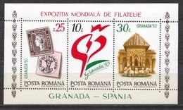 Rumänien; 1992; Michel Block 272 **; EXPO Granada - 1948-.... Republics