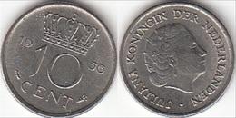 Olanda 10 Cents 1956 Dubbeltje KM#182 - Used - 1948-1980 : Juliana