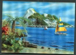 CARTE VISION RELIEF -  PENON DE GIBRALTAR - 3 D - 3 Dimensions - - Postcards