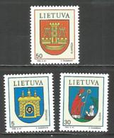Lithuania 1993 Mint Stamps MNH (**) - Lithuania