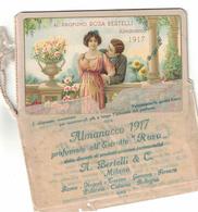 CALENDARIETTO BERTELLI  ALMANACCO 1917 - Calendari