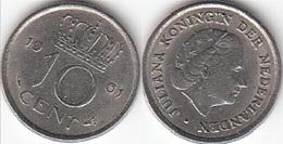 Olanda 10 Cents 1961 Dubbeltje KM#182 - Used - [ 3] 1815-… : Regno Dei Paesi Bassi