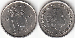 Olanda 10 Cents 1964 Dubbeltje KM#182 - Used - [ 3] 1815-… : Regno Dei Paesi Bassi