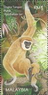 Malaysia 1996 (MNH) - Lar Gibbon Or White-handed Gibbon (Hylobates Lar) - Singes