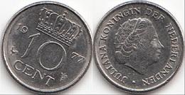 Olanda 10 Cents 1977 Dubbeltje KM#182 - Used - [ 3] 1815-… : Regno Dei Paesi Bassi