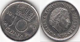 Olanda 10 Cents 1980 Dubbeltje KM#182 - Used - 1948-1980 : Juliana