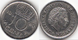 Olanda 10 Cents 1980 Dubbeltje KM#182 - Used - [ 3] 1815-… : Regno Dei Paesi Bassi