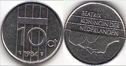 Olanda 10 Cents 1984 Dubbeltje KM#203 - Used - [ 3] 1815-… : Regno Dei Paesi Bassi