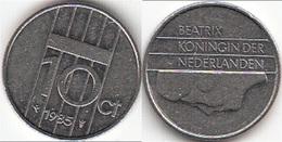 Olanda 10 Cents 1985 Dubbeltje KM#203 - Used - [ 3] 1815-… : Regno Dei Paesi Bassi