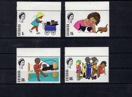 697987414 GRENADA POSTFRIS MINT NEVER HINGED POSTFRISCH EINWANDFREI  SCOTT 358 361 CHILDREN AND CATS - Grenade (1974-...)