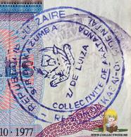 Zaire 10 Zaires 1977 2 Ink Stamps - Zaïre