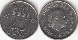 Olanda 25 Cents 1977 Kwartje KM#183 - Used - [ 3] 1815-… : Regno Dei Paesi Bassi