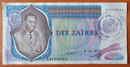 Zaire 10 Zaires 1977 Ink Stamp (1) - Zaïre