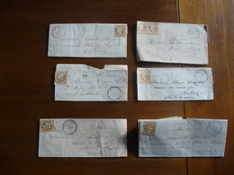 6 LETTRES MANUSCRITES TIMBREES (Napoléon III Sépia 10 Cts) + 22 ENVELOPPES TIMBREES (idem) - 1863-1870 Napoléon III Lauré