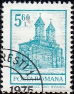 ROMANIA - Scott #2358 Church Of The Epiphany, Arges (*) / Used Stamp - 1948-.... Republics