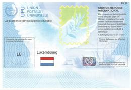 Luxemburg Luxembourg 2018 Reply Coupon Reponse Hologram Type T37 IRC IAS - Hologrammes
