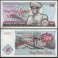 Zaire 500 Zaires 1985 UNC Specimen - Zaïre