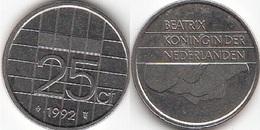 Olanda 25 Cents 1992 Kwartje KM#204 - Used - 1980-… : Beatrix