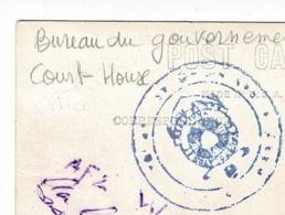Cachet Illustré Peu Lisible - Circulé Sans Date (timbre Décollé) Sur Carte Photo Governement Office, Court House - Aruba - Antilles