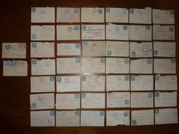 44 ENVELOPPES TIMBREES (Céres Bleu 25 Cts) - 1849-1850 Cérès