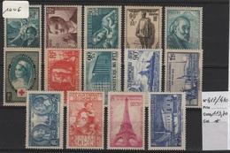 FR 1006 - FRANCE N° 417/430 Neufs* - Neufs