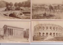 30 / NIMES  - 5  PHOTOS COLLEES SUR CARTON - FIN XIXe DEBUT XXe Siècle - Old (before 1900)