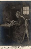 CPA Salon De Paris J. BENOIT-LEVY Vieille Femme (706352) - Paintings
