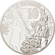 """Cote 70 € Au Leuchtturm 2019 Pièce MDP 10 € Argent 99,9% Belle Epreuve """"TREVE DE NOEL 1915"""" + Coffret+ Certificat - France"""