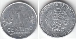Perù 1 Centimo 2007 Nuevo Sol KM#303.4a - Used - Pérou
