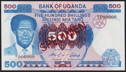 Uganda 500 Shillings 1983 Specimen UNC - Ouganda