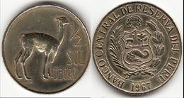 Perù ½ Sol 1967 Republic Decimal KM#247 - Used - Pérou