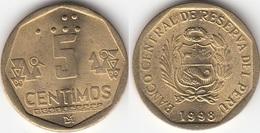 Perù 5 Centimos 1998 Nuevo Sol KM#304.2 - Used - Perú
